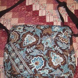 Vera Bradley java blue messenger bag
